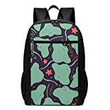 TRFashion Mochila Cute Stingray and Starfish Colorful Laptop Computer Backpack 17 Inch Stylish Casual Travel Daypack Laptop Bag Schoolbag Book Bag For Men Women Black
