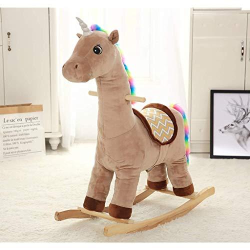 YUEZPKF Schön Schaukelstuhl Baby Rocking Horse, Kleinkind Hölzerner Schaukeltier, Kinderfahrt auf Spielzeug, Kleinkind-Rocker für 16-jährige, Outdoor & (Color : D)