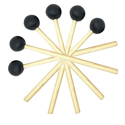 Drum Mallet, 6 Pezzi Percussioni Bacchette per Percussioni, Bacchette per Basso, Grancassa Mallet Bacchette, Bacchette per Marimba, Utilizzato per Xilofono, Campanello Elettrico