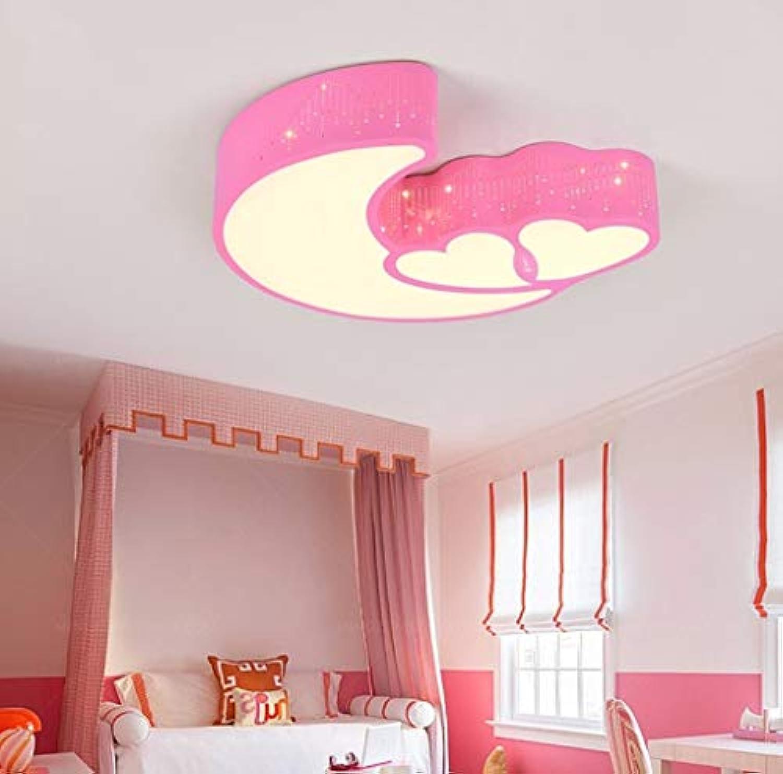 Deckenleuchten, moderne Einfachheit Stern Mond-led Schlafzimmer Decke Licht Wrme kindlich Kind junge Mdchen zimmer Augenschutz Art Design (Farbe   1-55  6,5 cm)