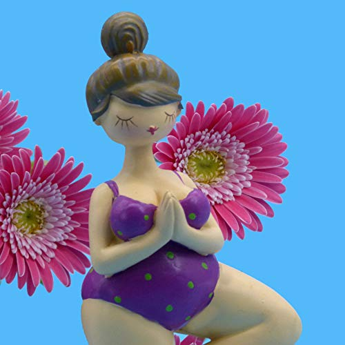 Pommerntraum ®| YogaFigur DekoFigur Dicke Lady beim Yoga - Dicke Yoga Molly - Dicke Nana - Dicke Frau beim Yoga - Yoga-Figur - Pilates