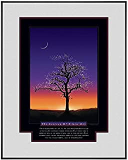 Successories 710155 The Essence of A New Day Motivational Poster Black Aluminum Frame in 0.375