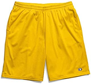 Champion Men's Long Mesh Short with Pockets, Team Gold, XXXX-Large