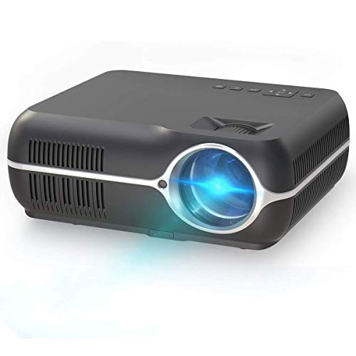 XIXIDIAN Proyector, mini proyector de video con 4200 lux, 1080p admitido, compatible con HDMI, USB, VGA y AV, altavoces duales, pantalla grande + altavoces duales únicos, para juegos de entretenimient