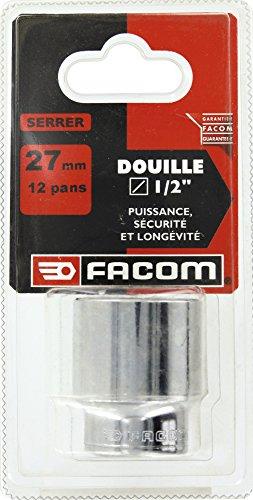 Facom SC.S.27 Llave de vaso-1/2, Doce Caras, Rojo, Negro, 27 mm