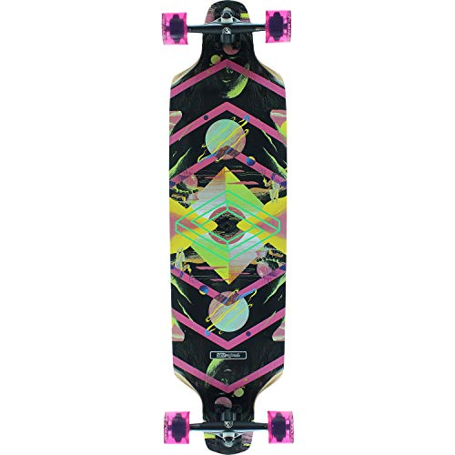 """DB Longboards Wanderer Black/Pink Longboard Complete Skateboard - 10"""" x 39"""""""
