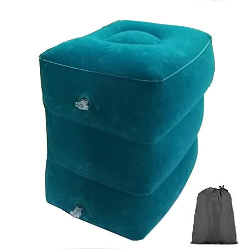 JONJUMP Almohada de viaje inflable Reposapiés para niños cama de dormir pierna apoyo altura ajustable reposapiés almohada para viajes largos