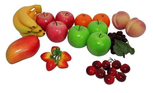 rukauf Deko Früchte Mix künstlich 27 Stück Fruits Set
