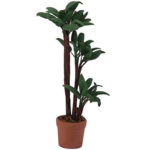 SODIAL Planta de Hoja Verde de Maceta Decoracion de Jardin para Casa de Muneca