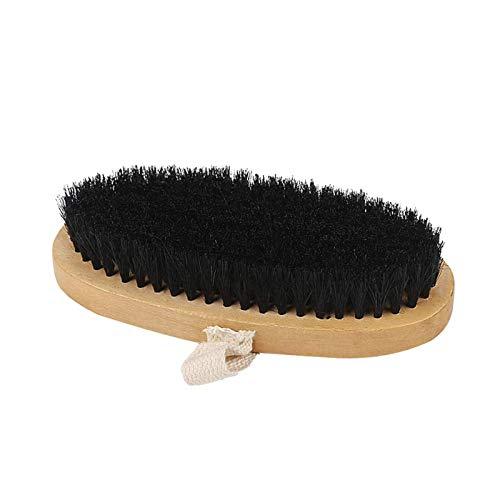 XINTUON Cinturón de piel con mango largo ovalado de madera para botas
