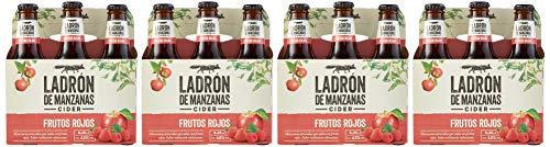 Ladrón de Manzanas Cider Frutos Rojos - 4 Packs de 6 Botellas x 250 ml - Total: 6 L