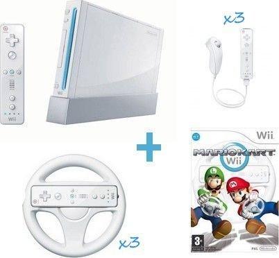 PACK Wii MARIO KART 3 joueurs