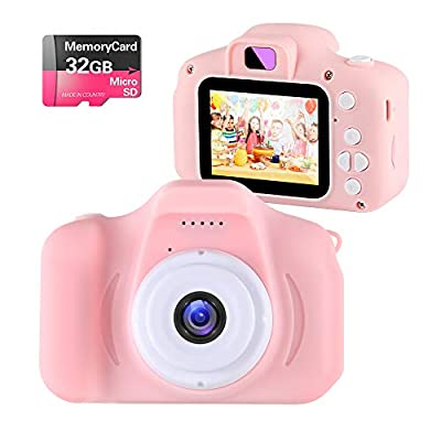 Kids Toys Children Digital Camera for 3-9 Year Old Boys Girls,NINE CUBE Kids Action Camera,Toddler Video Recorder 2 Inch 1080P Birthday Gifts for 3 4 5 6 7 8 9 10 Year Old Kids (32G SD Card Include) from NINE CUBE