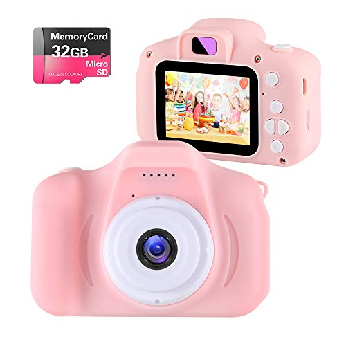 Kids Toys Children Digital Camera for 3-9 Year Old Boys Girls,NINE CUBE Kids Action Camera,Toddler Video Recorder 2 Inch 1080P Birthday Gifts for 3 4 5 6 7 8 9 10 Year Old Kids (32G SD Card Include)