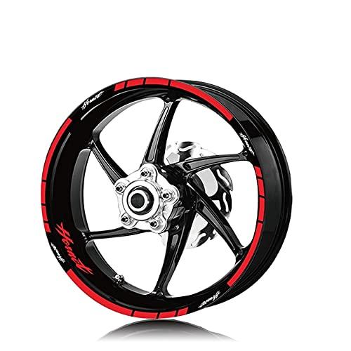 Etiqueta de Motocicleta Etiqueta Etiqueta de neumáticos Decalación Interior Exterior Rim Reflective Logo Decal Decal Kit Conjunto para Honda Hornet Hornet 600 160 900 (Color : XT LQ Hornet Red)