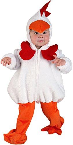 chiber - Costume da Pulcino per Bambini (Taglia 4 (2-4 Anni))