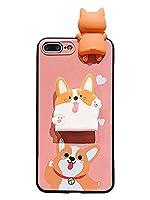 [プレミアム エックス]PREMIUM X 正規品 アイフォンケース スマホ iPhone 11 Pro Max/XS/XR/8/7/6s 耐衝撃 TPU スタンド機能 ストラップ コーギー犬 柴犬 人形 カワイイ