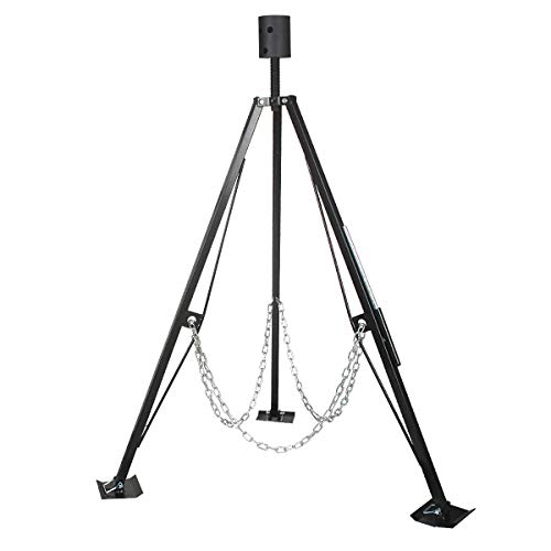 A-KARCK King Pin Adjustable Tripod 5th Wheel Stabilizer, Fifth Stabilizer Tripod Jack with 5000 lbs Load, Reduce Side-to-Side Movement of RV