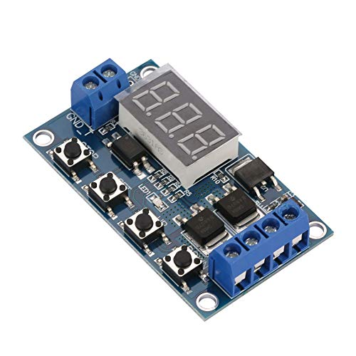 Interruptor de temporizador de retardo del ciclo del ciclo de señal de pulso, módulo de retraso de retardo 1 segundo a 999 segundos. Xxx. Punto decimal en la unidad de lugar, Intervalo de tiempo de 1
