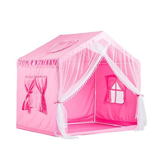 Tiendas de campaña, Teepee para niños – Casa de juegos grande para interiores – Esquina de lectura de cuento de dormitorio para niños y niñas (color: rosa, tamaño: 95 x 135 x 140 cm)