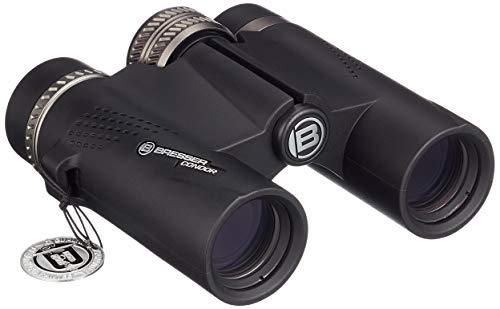 Bresser Prismáticos Condor 8 x 25 mm con prismas de Material de Vidrio BaK-4, Revestimiento Multicapa UR para Aumentar el Contraste y Carcasa Impermeable con Relleno de nitrógeno, Color Negro