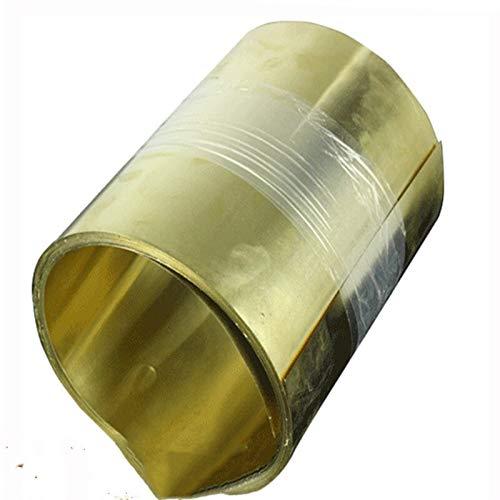 Shuxiang-Chapa de Metal Placa de Papel de lámina Delgada de Metal de latón Grueso 0.05/0.1/0.15/0.2/0.3/0.4/0.5/0.6-1mm x 200mm x1000mm 1pcs, para Guitarra, jardín, Soldadura