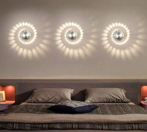 Bunte RGB-Spiral-Wandlampe, moderne Innenwandleuchte, Aluminium-Oberfläche, 3 W LED-Licht mit Fernbedienung, für Bars, Cafés, Wohnzimmer, Schlafzimmer, Flur