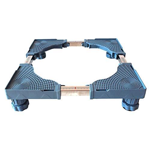 HEMFV Multifunktionssockel Verstellbarer, beweglicher Sockel Möbelwagen for Trockner und Kühlschrank, Haushaltsgerät mit Bodenbefestigung (Color : Blue)