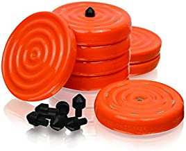 """Slipstick CB700 Universal Bench Grippers with Non Slip Grip Surface for Woodworking, Painting, Leveling, Raising, and Supporting (Set of 8) 2-3/4"""" Round x ½"""" Tall-Orange, 8 Pack, 8 Count"""