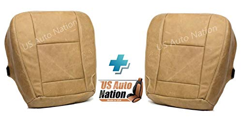 US Auto Nation Fits Ford F250 F350 King Ranch Driver & Passenger Bottom Leather Seat Cover -  480F0307KRCEFA4A60-7CC3B6B0-F6B0-4