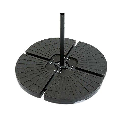 ToCi Base para sombrilla en 4 partes - Para meter peso | Cada parte mide 48.5 x 48.5 x 7.5 cm | para llenar de arena/agua y hasta 80 kg