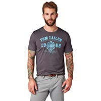 Tom Tailor Casual 1008637 Camiseta, Gris (Tarmac Grey 10899), X-Large para Hombre