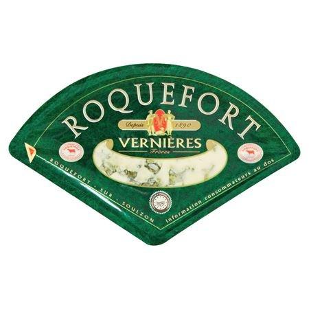 Vernières Frères Roquefort französischer Blauschimmelkäse, 52 % Fett 200 g
