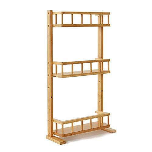 YZCJ kruidenrek 3 lagen muur opknoping bamboe houten keuken plank koelkast rek grootte 36 14 69cm