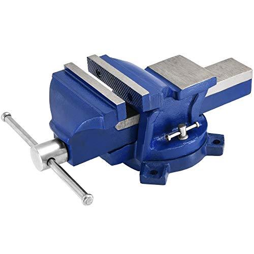 Deuba Schraubstock 125 mm Spannweite 360° drehbar Amboss Tischschraubstock Parallel-Schraubstock Werkstatt Schraubzwinge