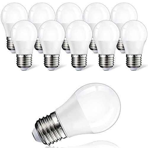 Suncan Lot de 10 ampoules LED E27 3 W équivalent de 20 W Blanc chaud 2700 K A50 Ampoule LED 3 W 200 lm Intensité non variable