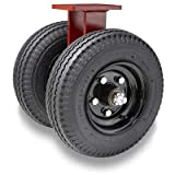 Hamilton Pneumatic Dual-Wheel Rigid Part# R-72250-PR Caster with 25' Pneumatic Air-Filled Tire with 1 1/4' Precision Tapered Roller Bearings - 7600 Lbs Capacity - USA Made