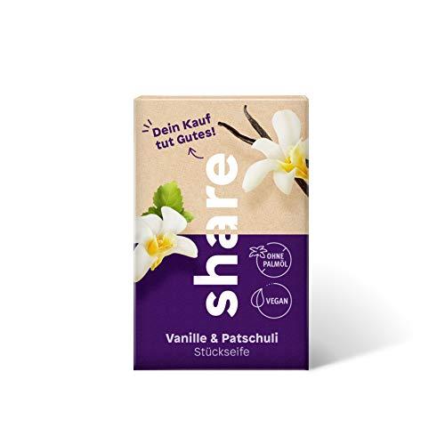 share Stückseife Vanille und Patschuli, 100 g, basisch, vegan