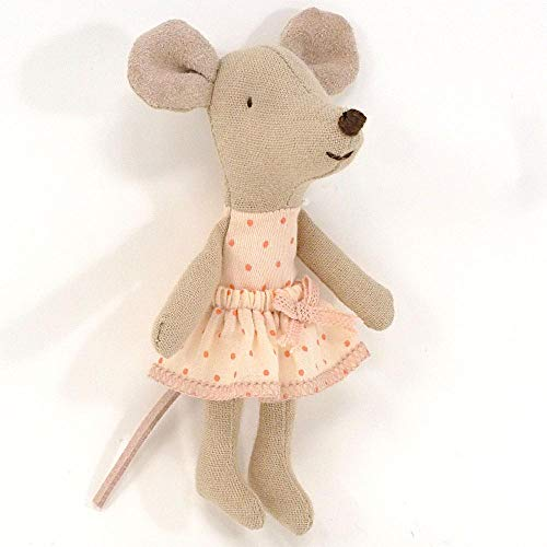 Maileg Little Sister Mouse in Pink Dress with Box