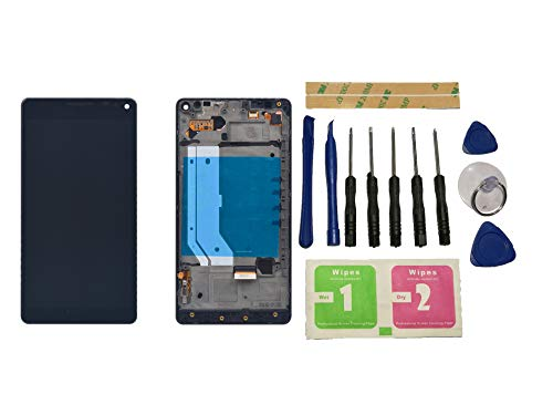 Flügel per Microsoft Nokia Lumia 950XL 950 XL RM-1116 Schermo Display LCD Display Nero Touch Screen Digitizer Sostituzione Assemblea Frame di Ricambio e Strumenti Gratuiti