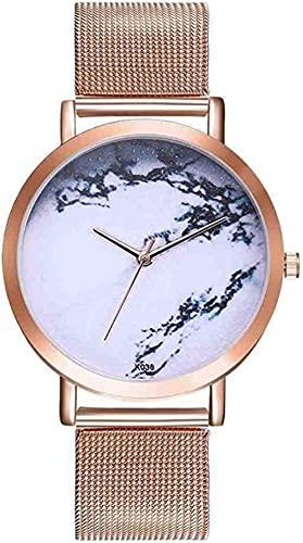 Mano Reloj Reloj de pulsera de acero inoxidable Reloj de mujer Moda Moda Simple con elegancia Melúrico Melado Dial Relojes Hombres Mujeres Analógica Reloj de pulsera Casual Relojes Decorativos Casuale