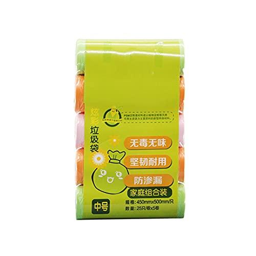 ZXCVB ZHENZEN 45x50cm Bolsas de Basura compostables Coloridas de Bolsas de plástico Coloridas Desechables Bolsas de Basura Superiores Planas para el hogar (Size : 250)