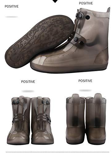 GROPC Unisex Schuhe Abdeckung PVC-Integral Schimmel wasserfeste Wiederverwendbare Abdeckungen Regen Regen Schuhe Boot Anti-Skid Straßenschuh Gehörschutz tragen