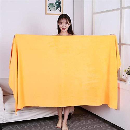 Lyolk Toalla cómoda para Cama, Toalla de baño Grande, Toalla Grande para Adultos Extra Gruesa Orange_70x140cm