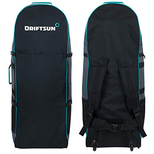 Driftsun ISUP Travel Carry Bag - Rolling Backpack for Transporting Inflatable Stand-Up Paddleboard