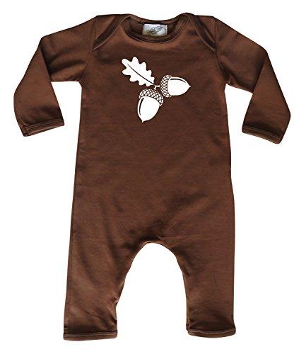 Thanksgiving 'Acorn' Baby Romper (6-12 Months (12M)) Brown