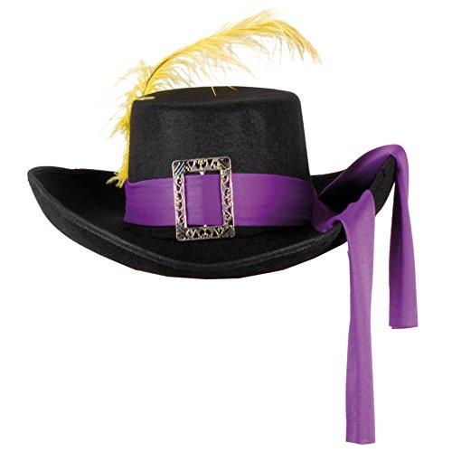 Boland 04022 Hut, schwarz/violett, Einheitsgröße