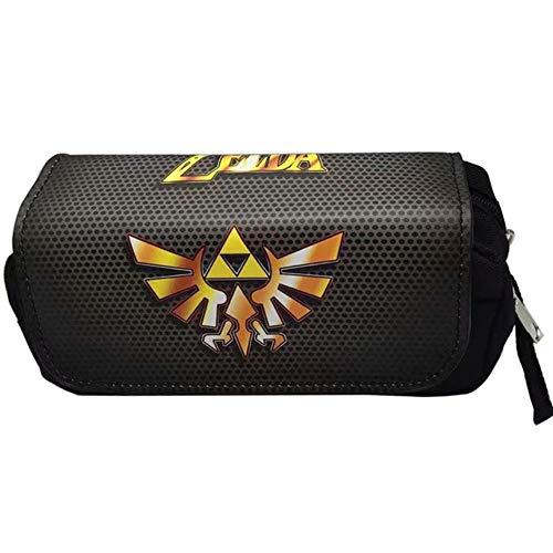 Twhoixi Legende van Zelda Pen Bag portemonnee Mannen Grote Capaciteit Dubbele Rits briefpapier Potloodhouder Cosmetische Tassen Cases