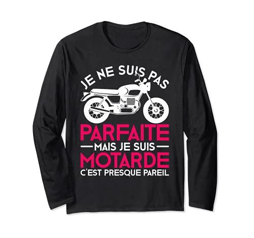 Moto T-shirt Motard Femme Moto Cadeau Motorcycle Motards Manche Longue