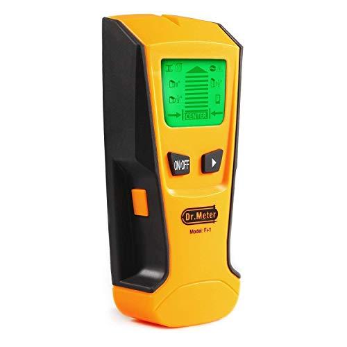 Detector de Pared, Dr.meter Detector de Pared con Pantalla LCD para Detecta AC Cable, Azulejos, Metal Tuberías Madera y AC Cable, Indicación de Distancia